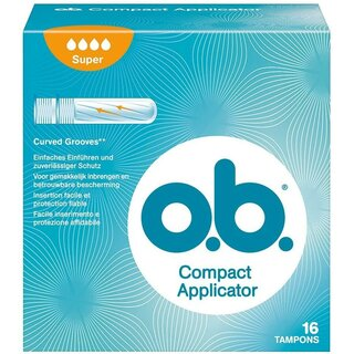 OB Compact Applicator Tampon Super 16er Packung