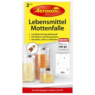 2er Set Aeroxon Kleidermotten-Falle